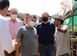 BAYRAM ÖNCESİ KURBAN PAZARINI DENETLEYEN BAŞKAN YÜCEL VATANDAŞLARA 'SABİT HAYVAN PAZARI' MÜJDESİ VERDİ